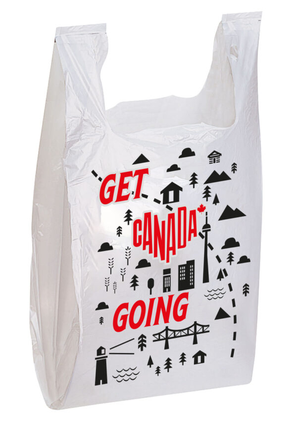 Printed T shirt shopping bag
